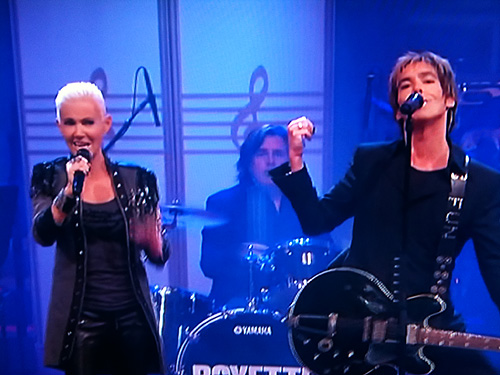 Roxette performing before Sweden's Crown Princess